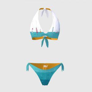 Bikini Triangolo/Slip Laccetti Donna Earth