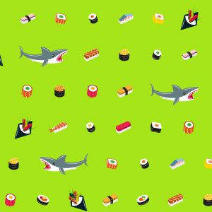 Slip Mare Uomo Sushi&Sharks